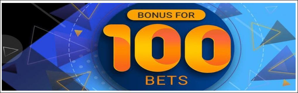 100 bets bonus at MELbet