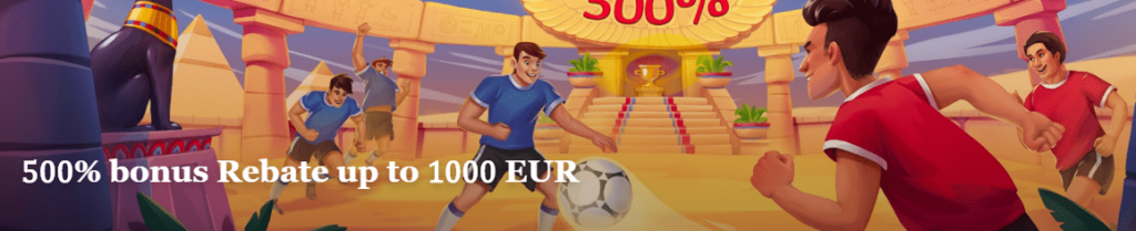500 percents rebate up to 1000 EURO at JoyCasino Bookmaker