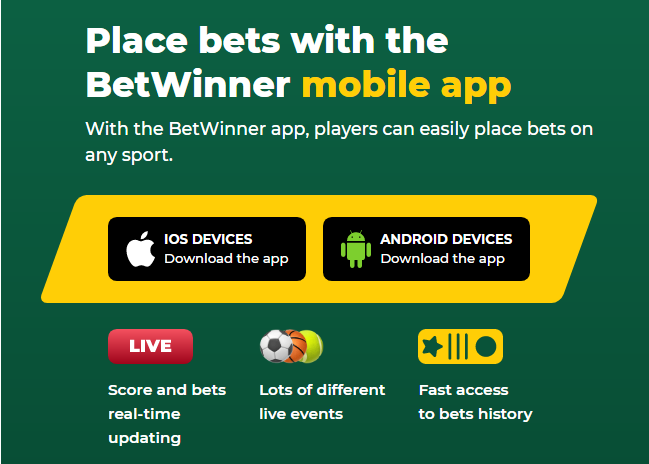 Download Betwinner Mobile Apps for iOS and Android