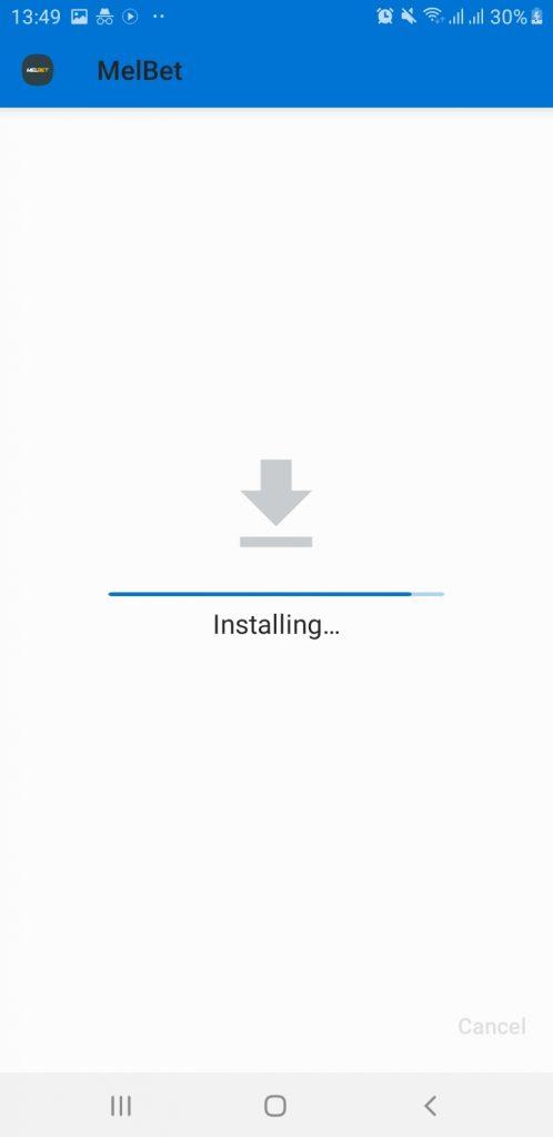 MelBet android app installation 2