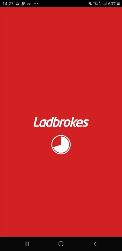 Ladbrokes Android app Splash Screen