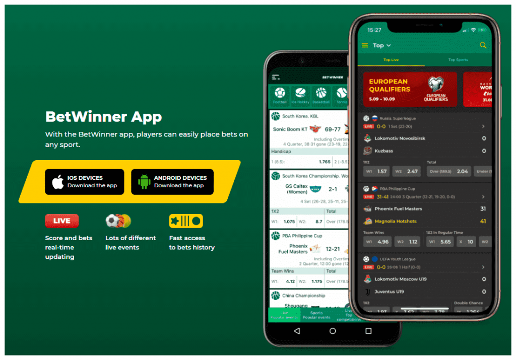 BetWinner iOS and Android Apps